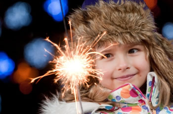 Halloween Sparkler Safety with Children